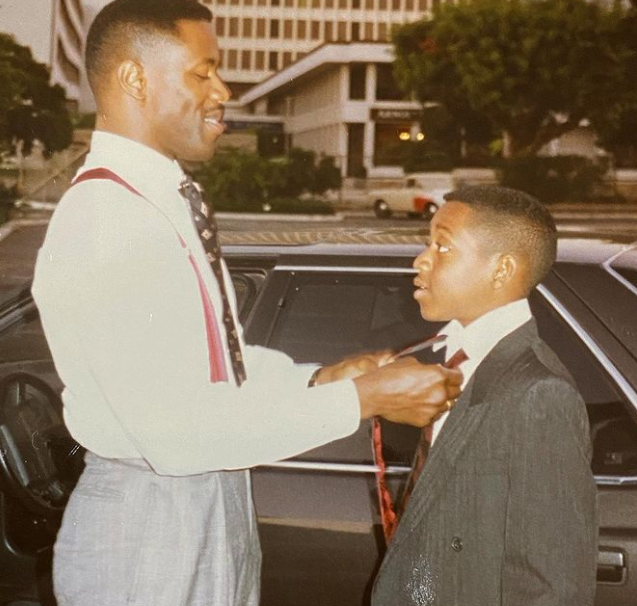 Jaleel White and his father Michael White