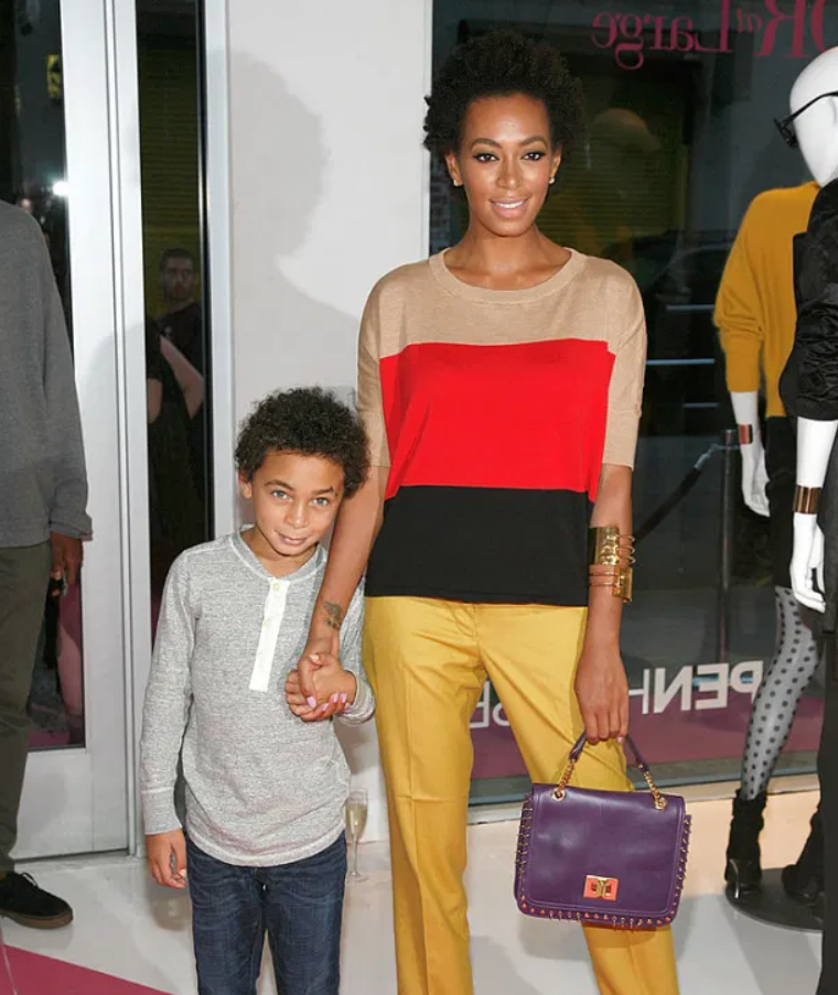Julez Smith with his mom, Solange Knowles