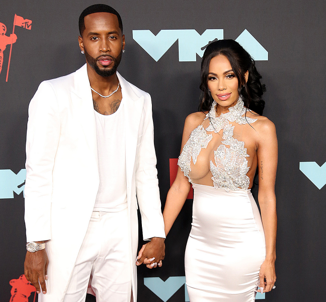 Safaree Samuels with his wife, Erica Mena