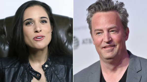 Matthew Perry (Right) and his fiancee Molly Hurwitz (Left)