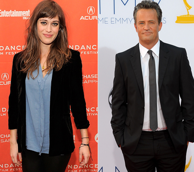 Matthew Perry (Right) and Lizzy Caplan (Left)
