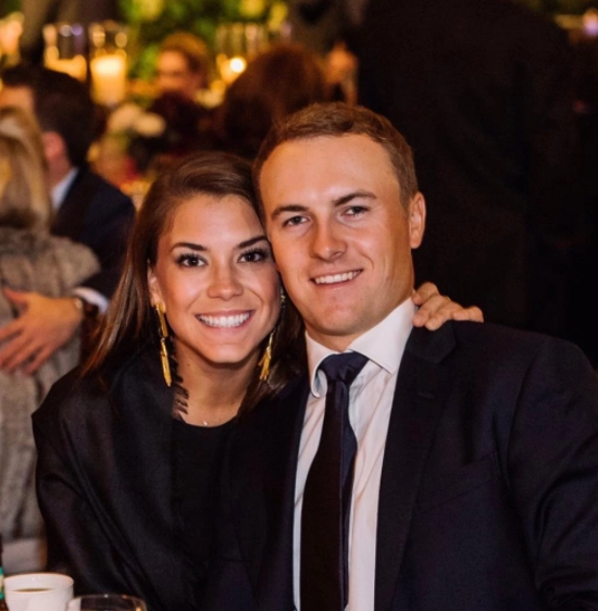 Jordan Spieth and his wife, Annie Verret