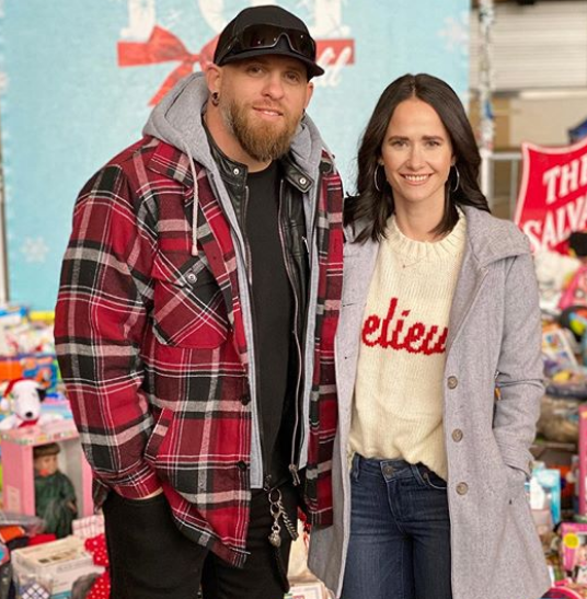 Brantley Gilbert' With His Wife Amber
