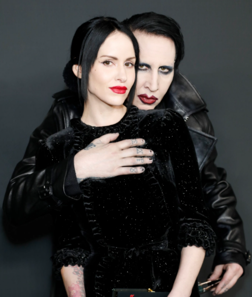 Marilyn Manson with his current wife Lindsay Usich
