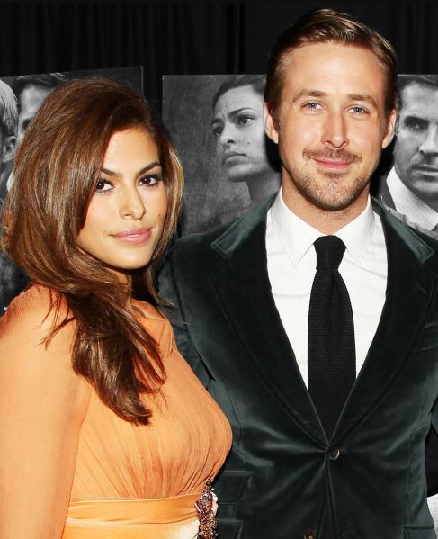 Ryan Gosling and his girlfriend, Eva Mendes