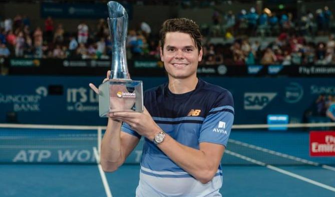 Milos Raonic Taking Brisbane Title