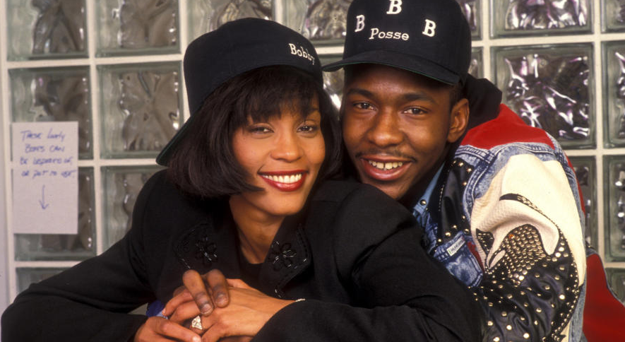 Bobby Brown and his ex-girlfriend, Whitney Houston