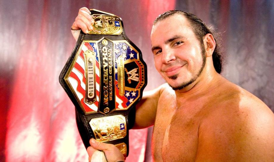 Matt Hardy Holding Belt