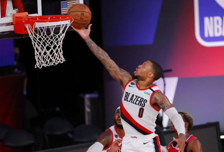 Damian Lillard Scoring The Ball