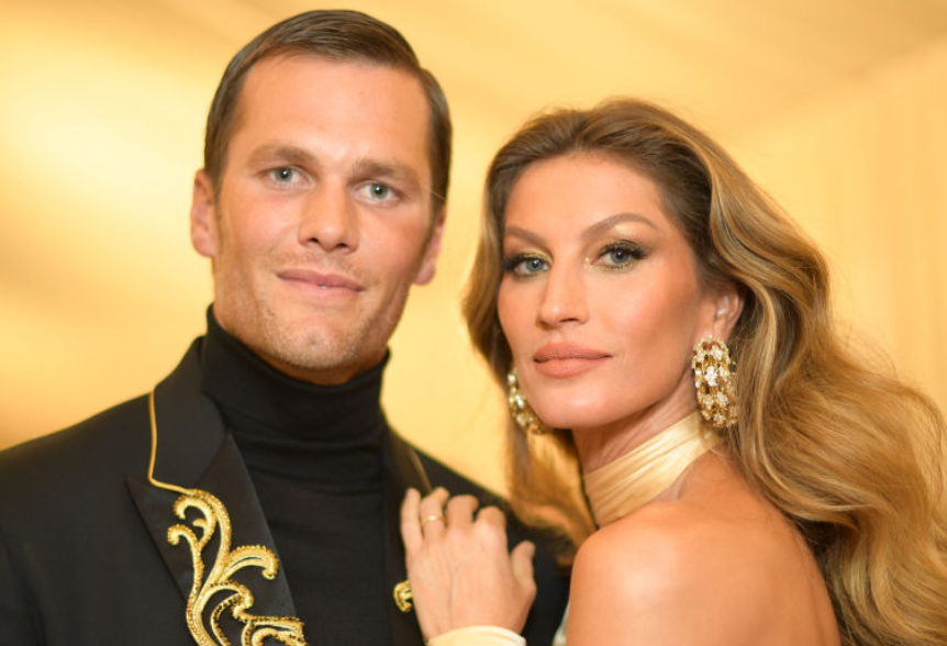 Gisele With Her Husband Tom Brady