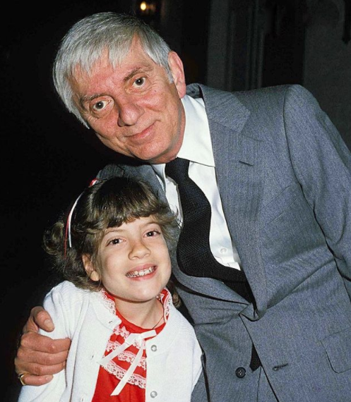 Tori Spelling and her father, Aaron Spelling