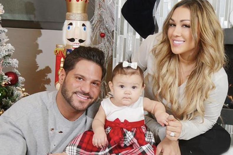 Ronnie Ortiz-Magro with her ex-girlfriend, Jen Harley and their daughter