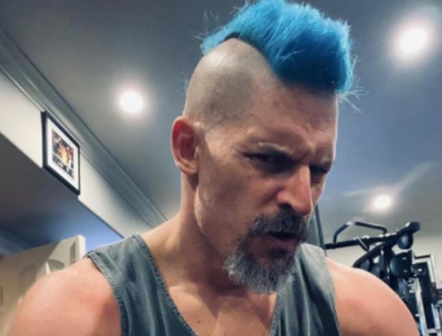 Joe Manganiello's New Blue Hair