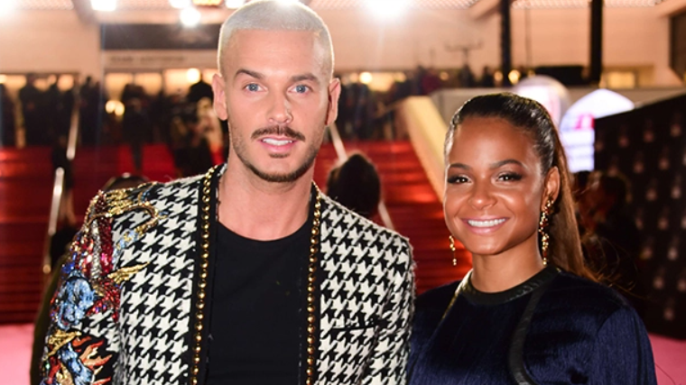 Christina Milian with her boyfriend, Matt Pokora