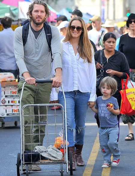 Alicia Silverstone with her Ex-Husband Christopher and their children
