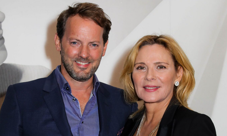 Kim Cattrall and her boyfriend, Russell Thomas