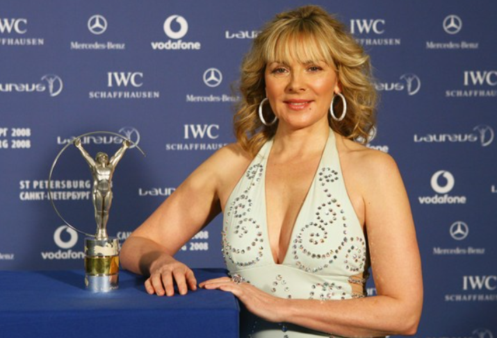 Kim Cattrall with Awards