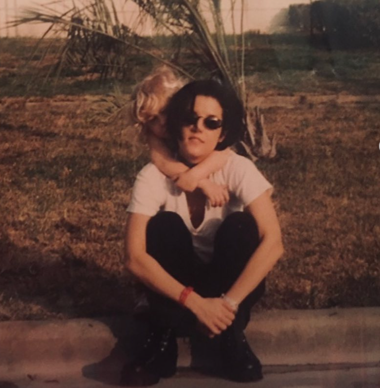 Riley Keough with her mom, Lisa Marie Presley