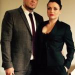 Shona McGarty and her fiance, Ryan Harris