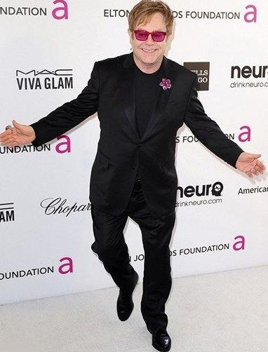 Elton John Posing His Body