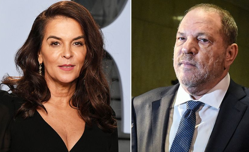 Annabella Sciorra (Left) and Harvey Weinstein (Right)