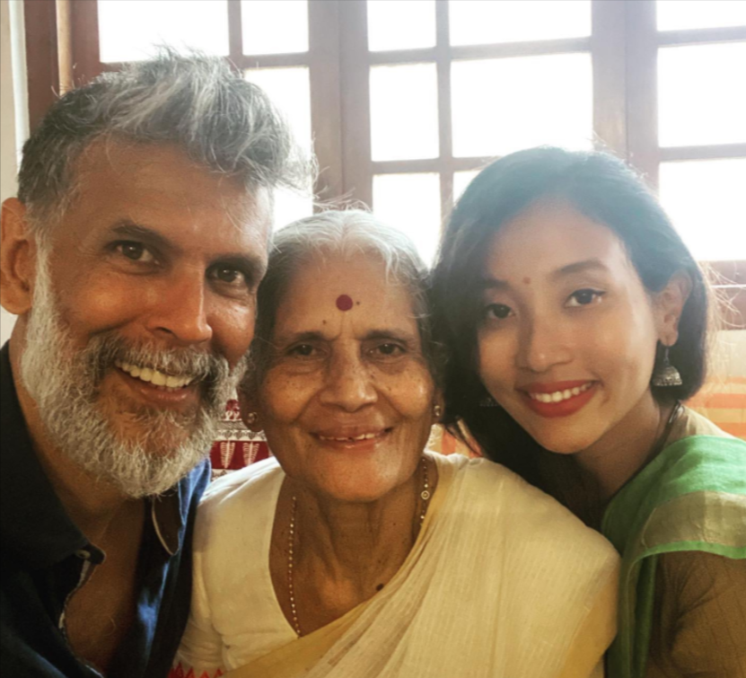 Milind Soman family