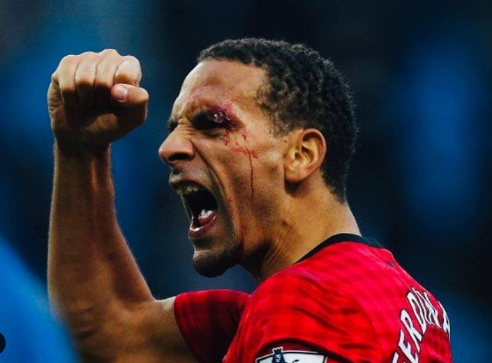 Rio Ferdinand faced injury during the game play