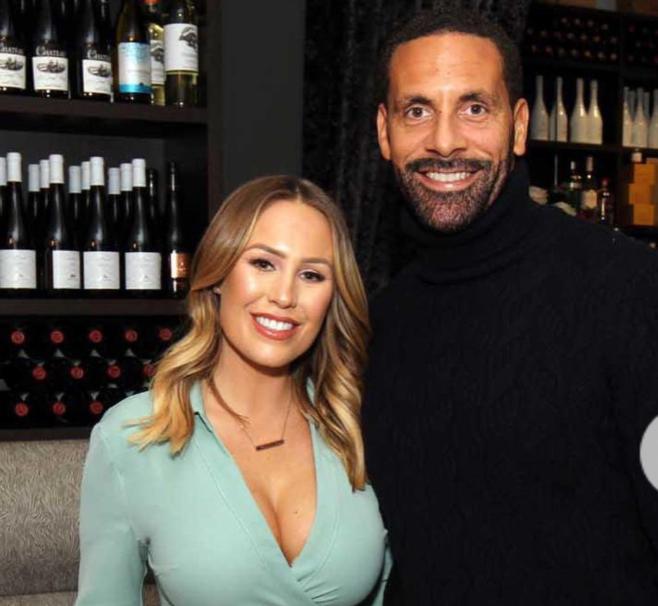 Rio Ferdinand with his wife, Kate Wright