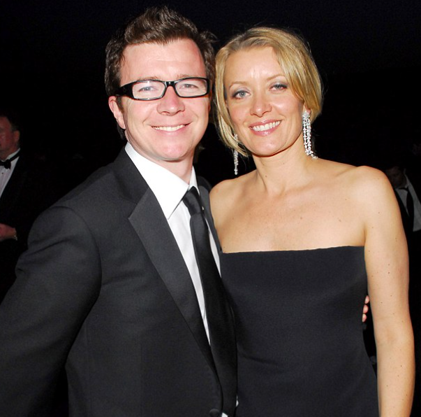 Rick Astley and his wife, Lene Bausager