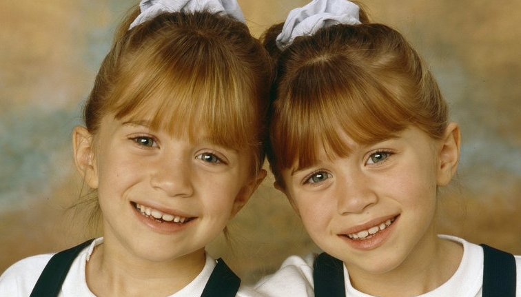 Mary-Kate Olsen and Twins Sister, Ashley Olsen in the ABC sitcom Full House