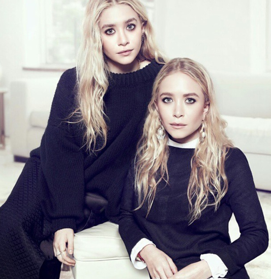 Mary-Kate Olsen With Her Twins Sister, Ashley Olsen