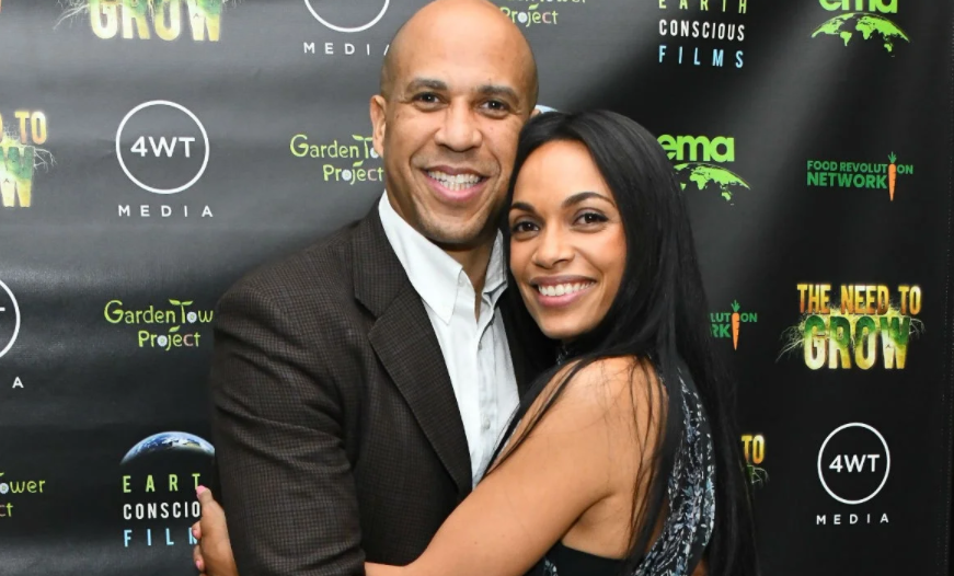 Cory Booker and his girlfriend, Rosario Dawson