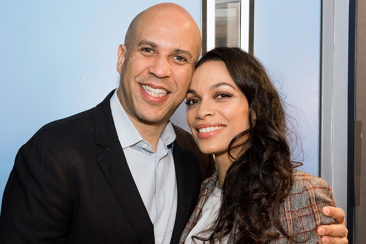 Cory Booker and Rosario Dawson