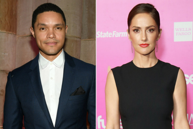 Minka Kelly (Right) And Trevor Noah (Left) Are In A Serious Relationship