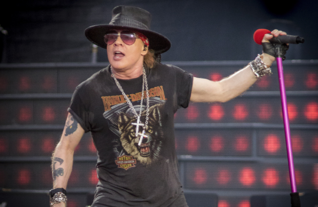 Axl Rose, lead vocalist of the hard rock band Guns N' Roses