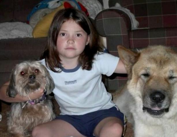 Alexandra Daddario as a child