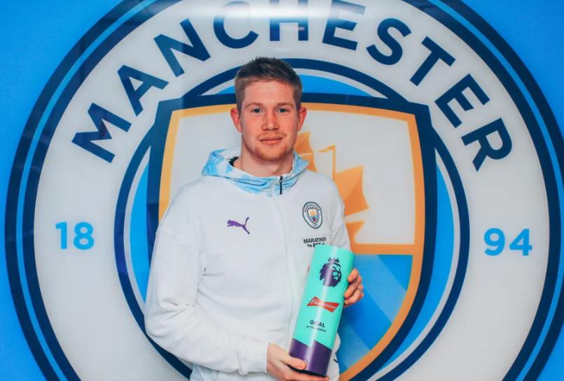 De Bruyne earns November 2019 Budweiser Goal of the Month