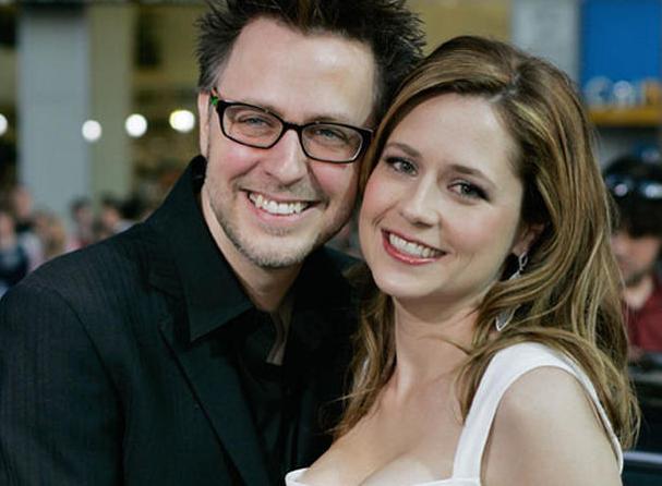 James Gunn with his ex-wife, Jenna Fischer
