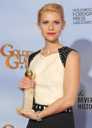 Claire Danes with award
