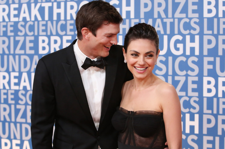 Mila Kunis With Her Husband Ashton Kutcher