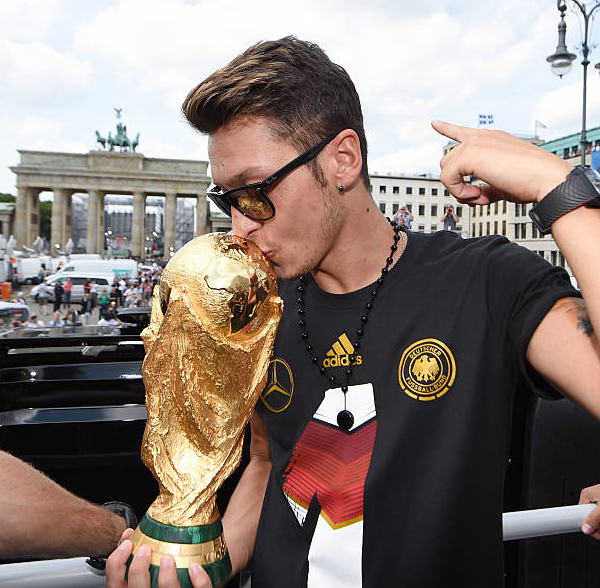 Mesut Ozil was a part of 2014 World Cup Winner for Germany
