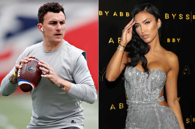 Johnny Manziel and his ex-wife, Bre Tiesi