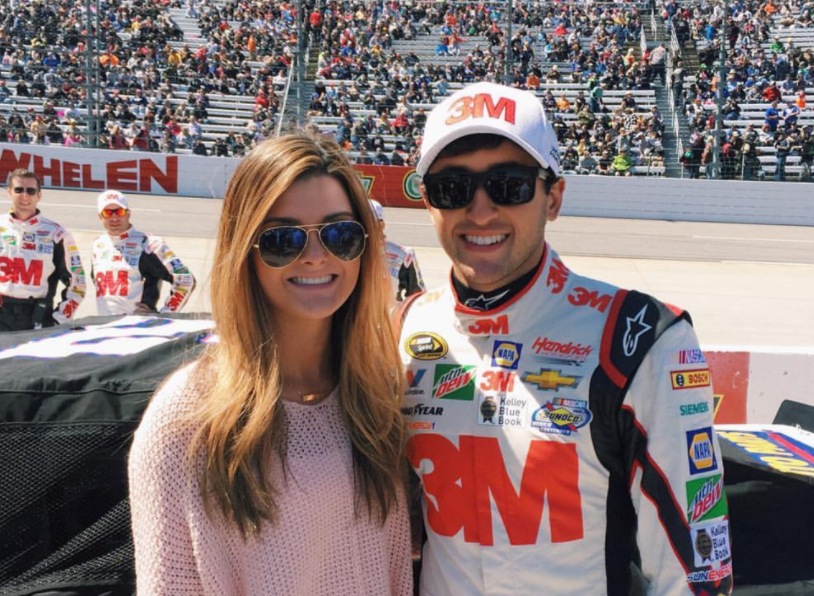 Chase Elliott with his ex girlfriend, Kaylie Green