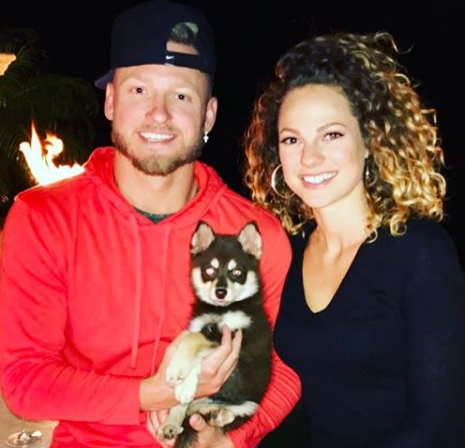 Josh Donaldson With His Wife