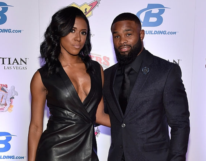 Tyron Woodley With His Wife, Averi