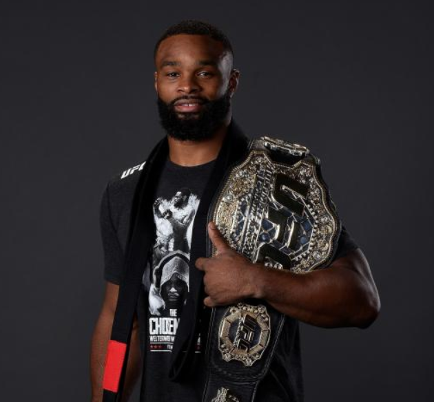 Tyron Woodley With UFC Belt