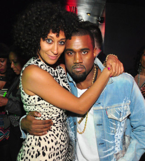Tracee Ellis Ross and Kanye West