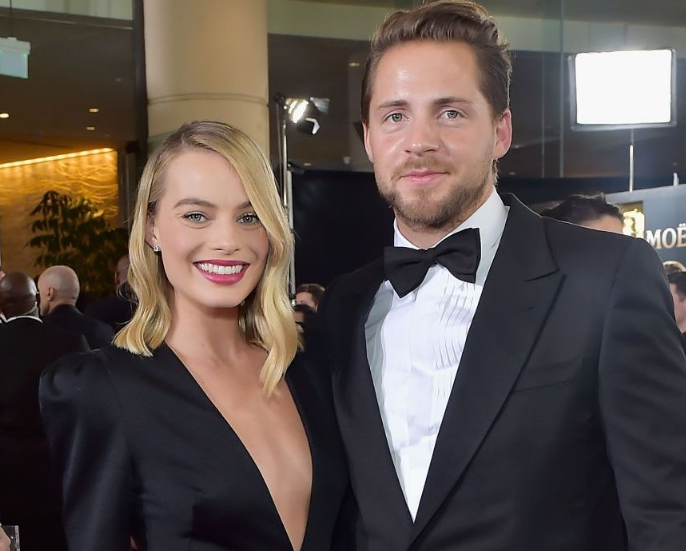 Margot Robbie With Her Husband Tom Ackerley