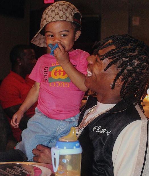 Lil Baby Holding His Son, Loyal Armani