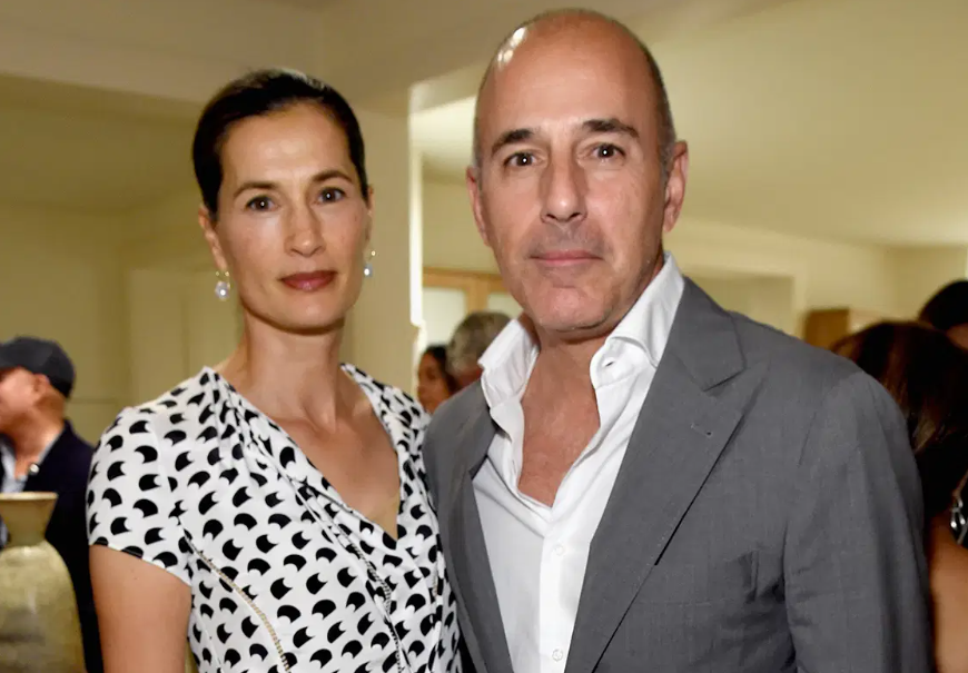 Matt Lauer with his wife, Annette